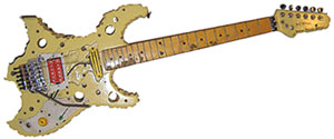 Bumblefoot's Swiss Cheese Guitar