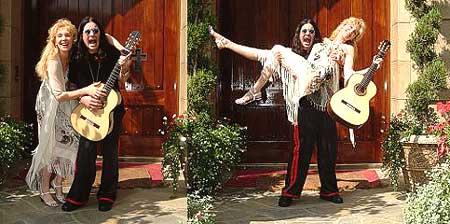 Liona with neighbor Ozzy Osbourne