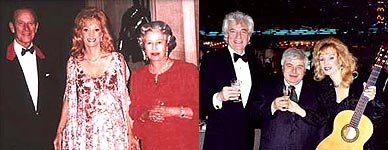 Liona with Queen Elizebeth II and Prince Phillip and with The Mayor of Moscow